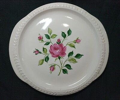 """Laurella by Universal Pink Cottage Roses Platter 11.5"""" x 10.75"""""""