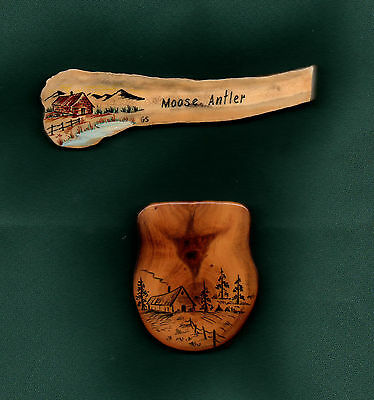 Moose Antler & Diamond Willow Fridge Magnets Hand Made  (Moose Shed)