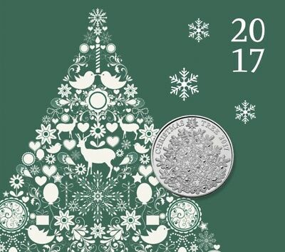 FIVE POUNDS # NEW COIN # UK 2017 Christmas 5£ UNCIRCULATED