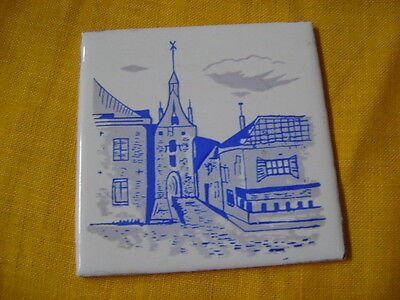 Collectable Blue & White Tile