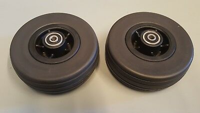 "6""x2"" Front Or Rear Caster Wheels for all Wheelchair's Jazzy Pride Quantum Chair"