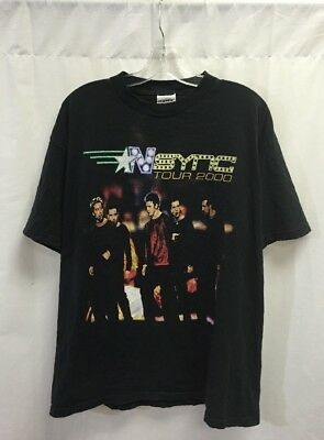Vintage Nsync Tour 2000 T Shirt Black Size X-Large
