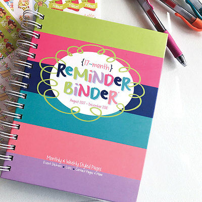 sale 2017 2018 planner reminder binder weekly monthly tabs
