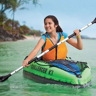 New Intex Intex Challenger K1 Kayak Canoe River Lake Boat Oars Inflatable #68305