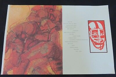FOOTBALL Abstract LITHOGRAPH Reproduction& Poem JIM JONSON Sports Artist '70's