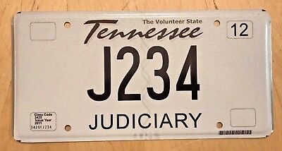 "Tennessee Judiciary License Plate  "" J 234 "" Tn Judge All Rise Courtroom Legal"