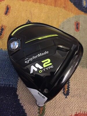 Near-mint 2017 TaylorMade M2 D-Type 10.5* 10.5 degree Driver Head only RRP£370