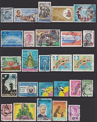 Philippines 1959-1991 Collection Very USED Condition (2 Scans) 38 Stamps
