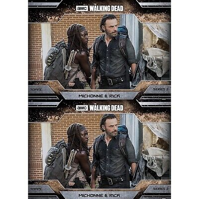 2x ALLEGIANCE SERIES 2 DUST MICHONNE & RICK The Walking Dead Card Trader Digital