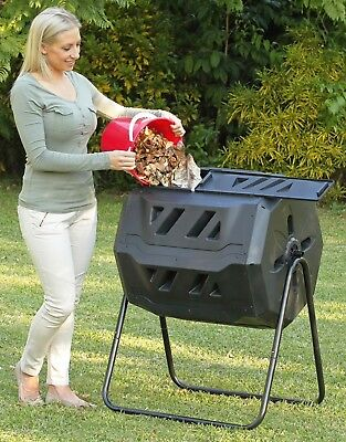 Dual Chamber 160 Ltr. Rotating Compost Bin. New.