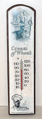 Vintage Cream Of Wheat Advertising Wood Sign With Thermometer (George Nathan)