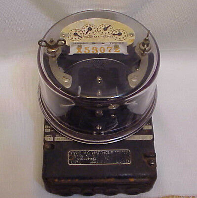 Antique Sangamo Type HC Watthour Meter 15 Amps 115 Volts Nice