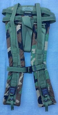 New U.S. Military Issue MOLLE II Main Pack Shoulder Straps Woodland