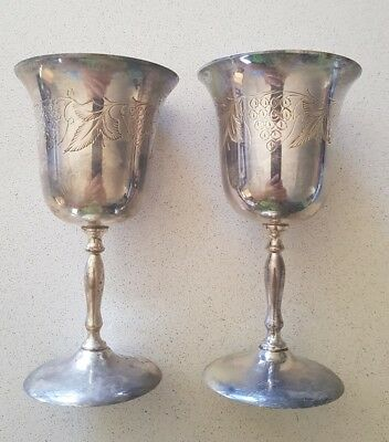 silverplated wine goblets