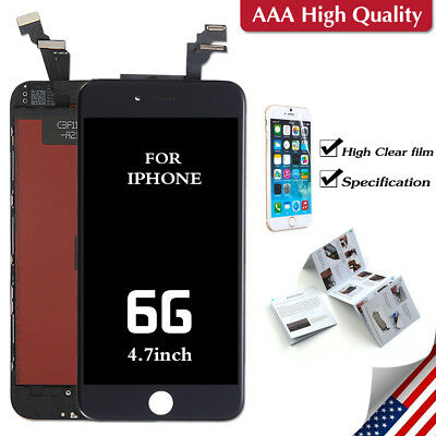 "Black For iPhone 6 4.7"" LCD Touch Screen Display Digitizer Replacement"