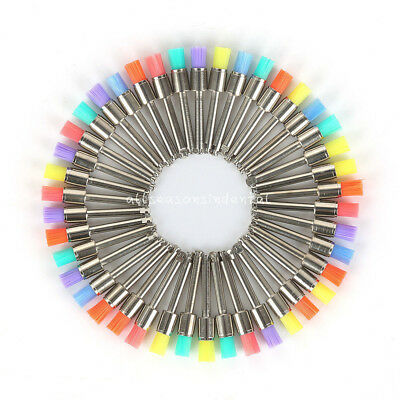 Nylon Latch Flat Dental Prophy Polishing Mixed Color Polisher Brush 50 Piece