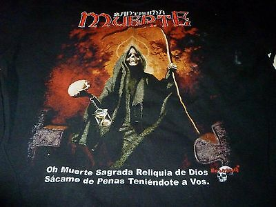 Santisima Muerte Shirt ( Used Size XL ) Distressed Condition!!!
