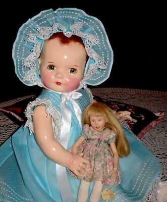 "RARE 25"" 1940s VINTAGE   IDEAL 'SISTER COOS'  COMPOSITION DOLL"