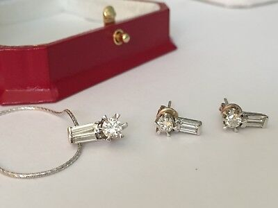 Diamond Earrings And Pendant 18Kt Gold Jewellery Set **exquisite Brilliance