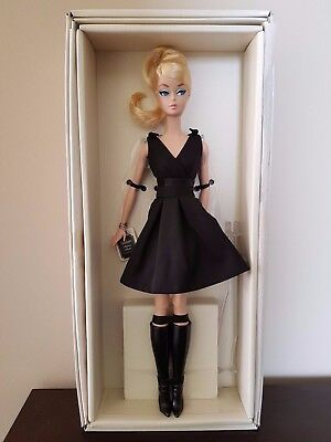 Rare Blonde Hair 2016 Gold Label Collection Silkstone Classic Black Dress - New
