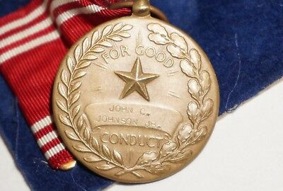 WWII NAMED US Army Good Conduct Medal M1065