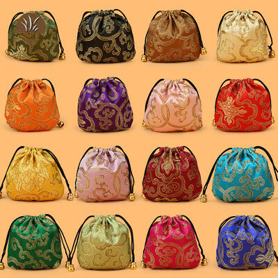 24pcs Wholesale Women's Silk Brocade Pouch Purse Gift Bag Jewelry Coin Bags