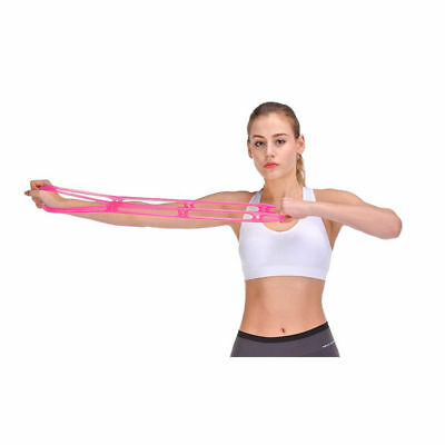7 Holes Silicone Yoga Resistance Band Fitness Pull Rope Body Training Tools