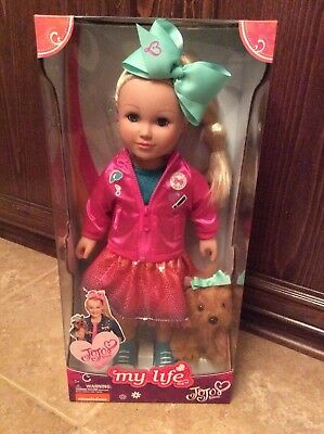 """Exclusive NEW Jojo Siwa My Life 18"""" Doll w/puppy *2017 Hot Toy* (Hard to Find)"""
