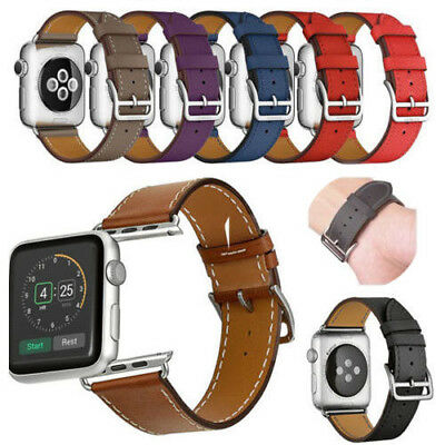 For Apple Watch Series 3/2/1 38mm/42mm Genuine Leather Band Single Tour Loop