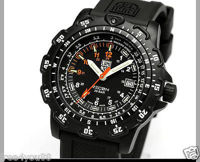 Preowned W/o Box Men's Luminox Navy Black Recon Series 8800 Rubber Band Watch