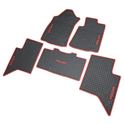 NEW Tailored Waterproof Rubber Floor Mats For Toyota Hilux REVO Dual Cab 15-ON