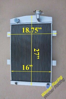 """27"""" Aluminum Alloy Radiator Fit CHEVY M/T 1935 1936 CUSTOM  56mm Thick Core"""