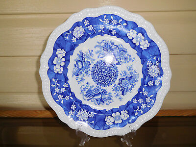 """Spode """"Trophies"""" Blue Room Collection Regency Series Display Plate England"""