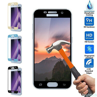 Tempered Glass Full Film Screen Protector Cover Saver fr Samsung S6 S7 Edge A7