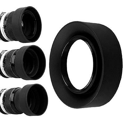 58mm 3 in 1 Collapsible Rubber Foldable Lens Hood 58mm DSIR Black Len For Canon.