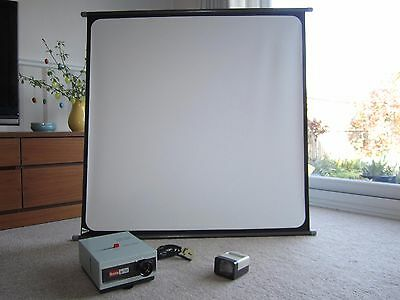 Slide Projector, Screen and hand-held Viewer