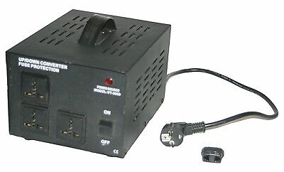 VT-3000 110 220 Step Up Down Voltage Converter Transformer 3000 Watts 3 Outlets