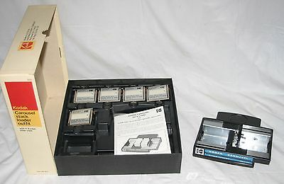 Kodak Carousel Slide EC Stack Loader Outfit 5 Quick Load Clips & Storage Box VGC