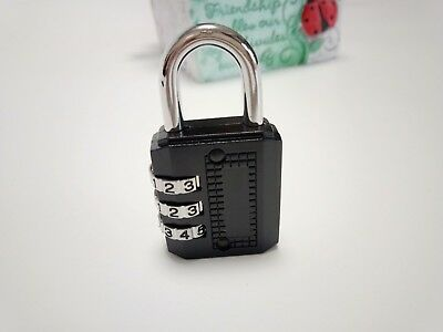 Portable code locks 3-digits padlock 6cm travelling luggage home box drawer lock