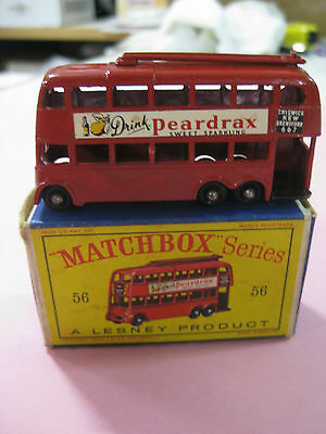 Vintage 60/70´s Matchbox Lesney Trolley Bus Nº56