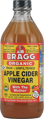 Bragg Organic Raw Unfiltered Apple Cider Vinegar With The 'Mother' Unflavored