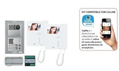 Urmet Kit Bifamiliare 1783/322 Video Espandibile 2 Voice Compatibile Con Callme