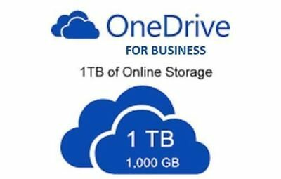 Lifetime 1000 GB 1TB Onedrive Cloud space for Business