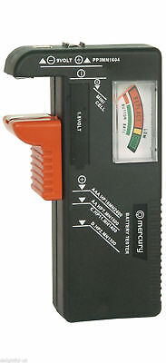 Mercury Universal Battery Tester For AAA,AA C.D.9vlt - BAT393