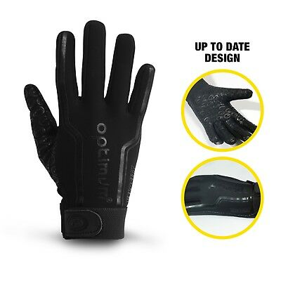 Optimum Sports Velocity Thermal Rugby Gloves Winter Cold Rain  - Black