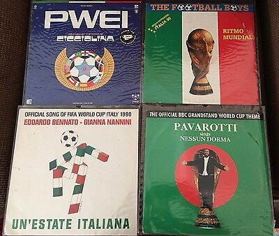 ITALY 1990 WORLD CUP MUNDIAL Vinyl 12' Lp Records