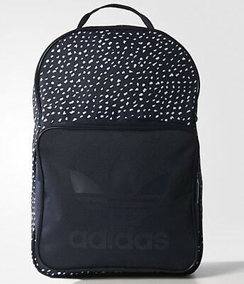44fd6f824ee8 Adidas originals trefoil Backpack graphic Classic Bag school gym men womens  BNWT