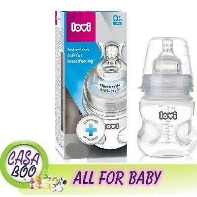 Medical + baby bottle LOVI with dynamic Lovi teat 0m+ / 3m+ 150/250ml