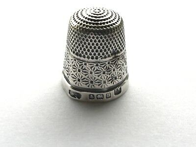 Solid Silver Thimble by Henry Griffith & Sons Ltd Birmingham 1926