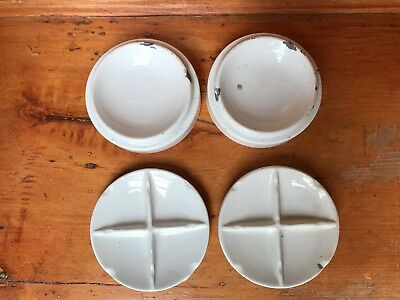 VINTAGE 1950's PORCELAIN BOWLS for Mixing Paints, Reeves/F&R Co., Germany (4)